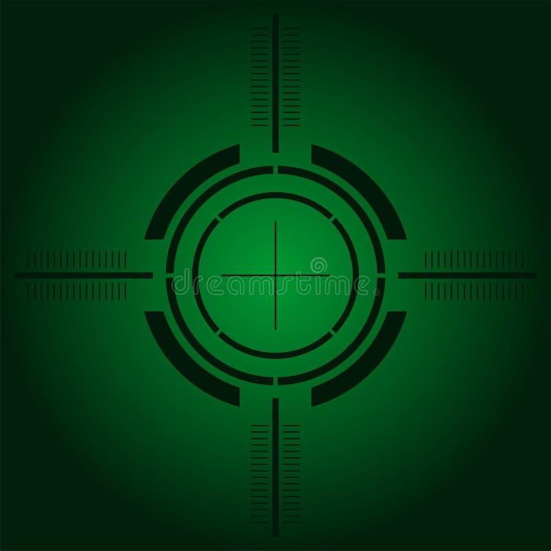 Het gezicht van het kanon over groene gradiënt stock illustratie