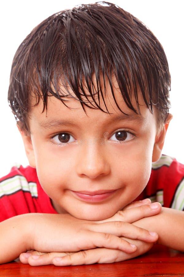 Het gezicht van het kind stock fotografie