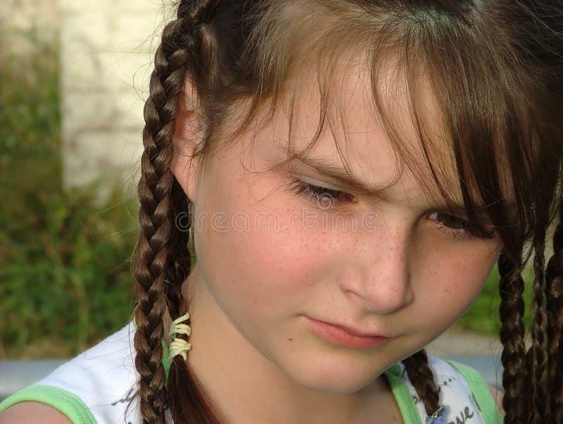 Het gezicht van het meisje stock foto's