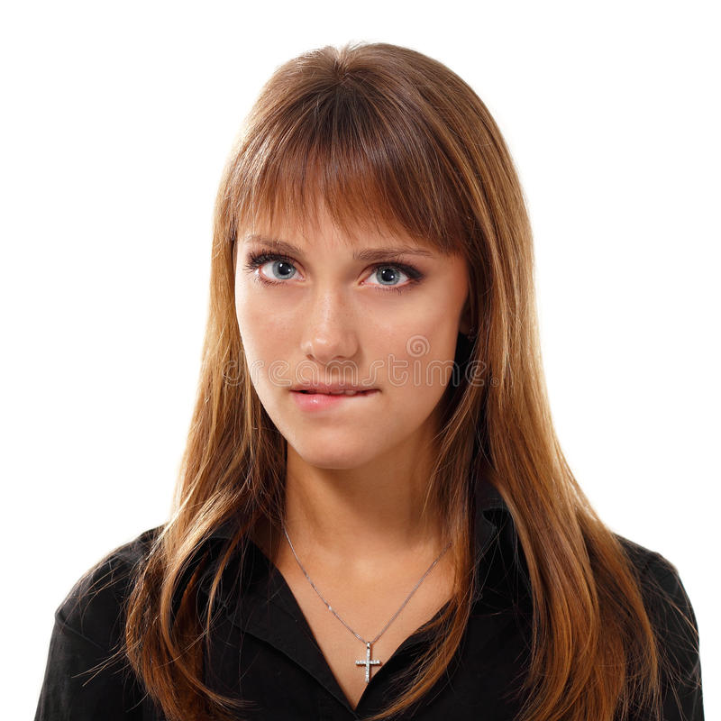 Het gezicht van het tienermeisje stock afbeeldingen