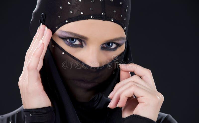 Het gezicht van Ninja royalty-vrije stock afbeelding