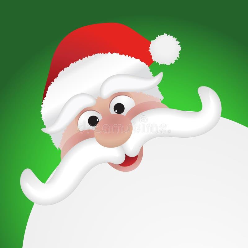 Het gezicht van Santas vector illustratie