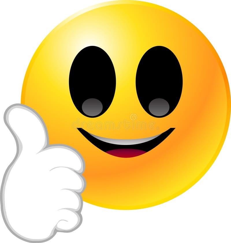 Het Gezicht van Smiley van Emoticon royalty-vrije illustratie