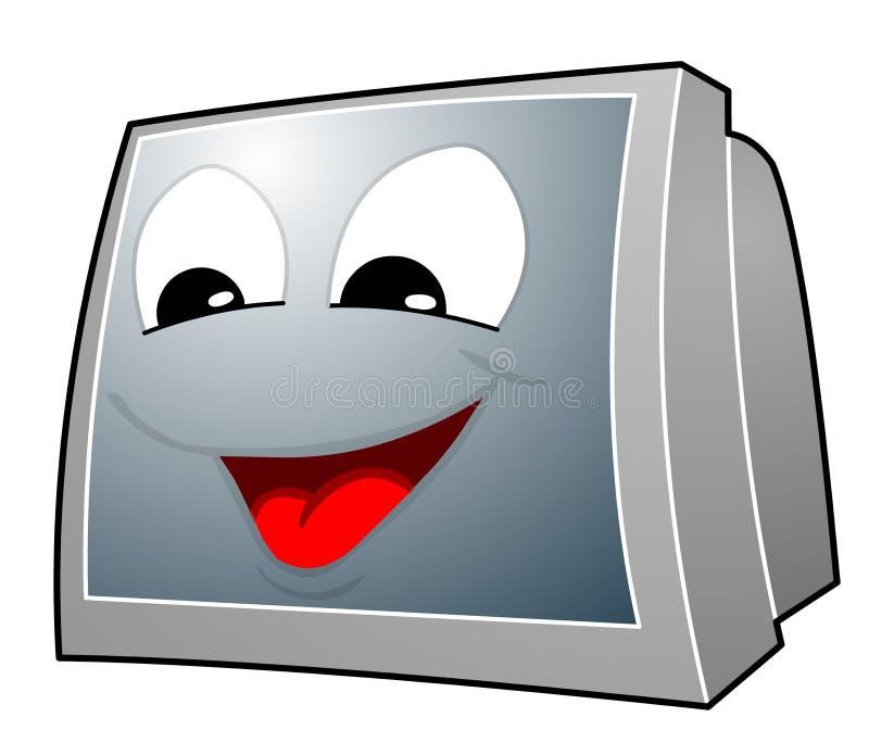 Het gezicht van TV stock illustratie
