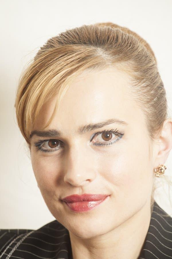 Het gezichts dichte omhooggaand van de portret Mooie vrouw royalty-vrije stock fotografie