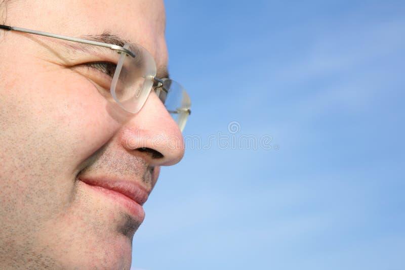 Het gezichtsclose-up van de mens royalty-vrije stock foto