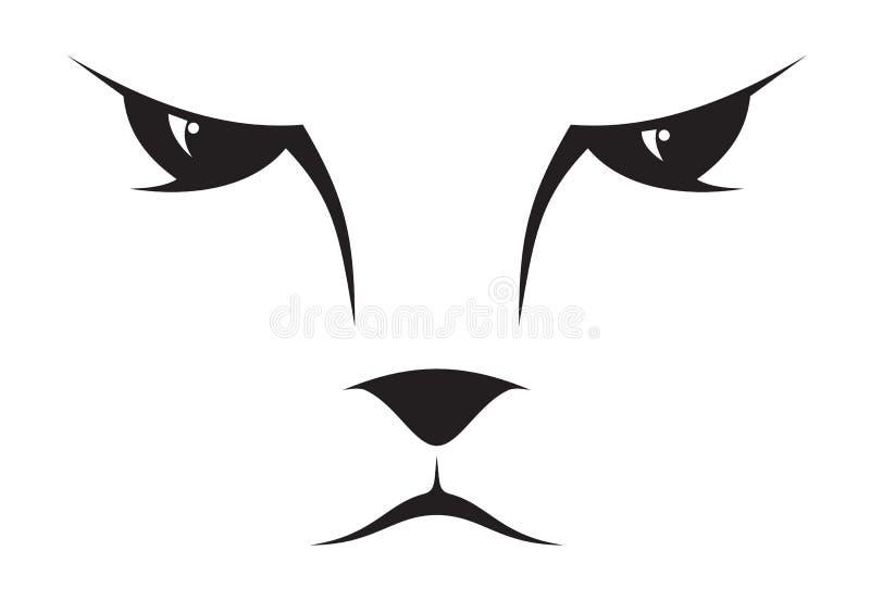 Het gezichtspictogram van de kat stock illustratie