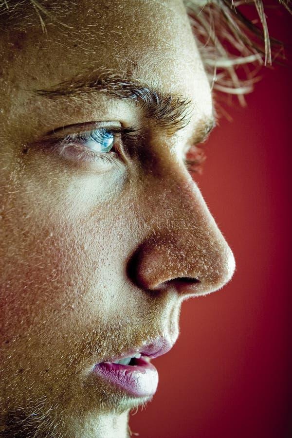 Het gezichtsprofiel van het zweet