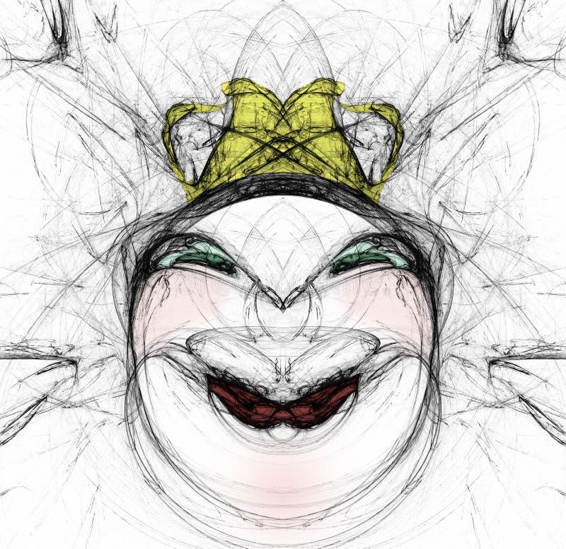 Het gezichtsschets van de vrouw stock illustratie