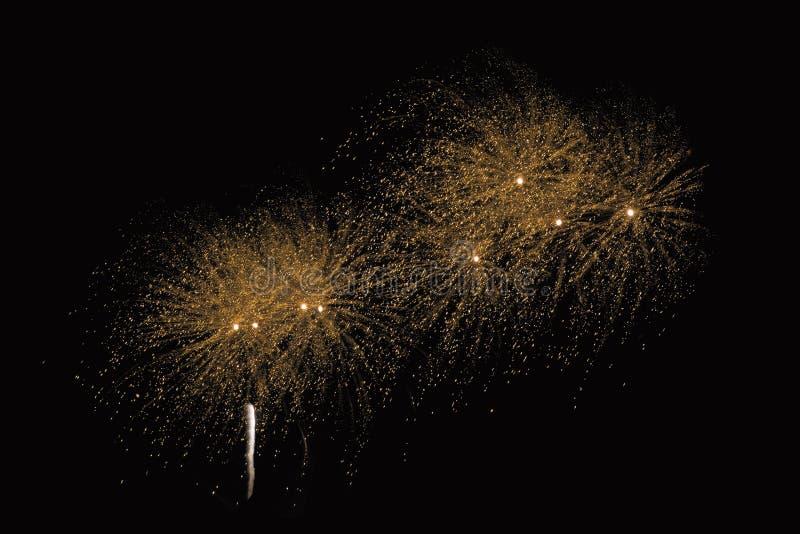 Het gezoem in vuurwerk toont royalty-vrije stock fotografie