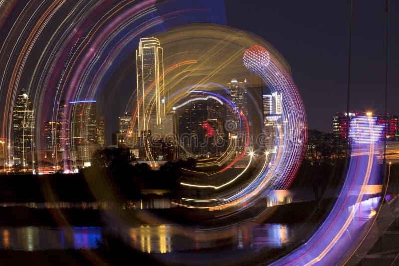 Het gezoemsamenvatting van Dallas van de binnenstad, Texas royalty-vrije stock foto