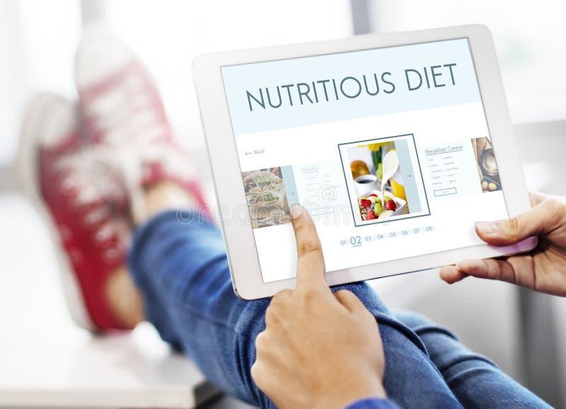 Het gezonde Concept van de de Levensstijlvoeding van het Voedselwelzijn royalty-vrije stock fotografie