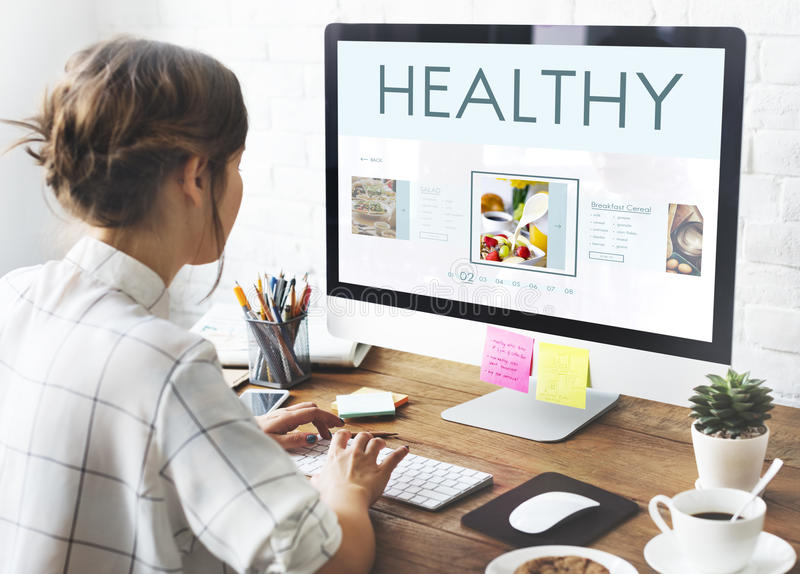 Het gezonde Concept van de de Levensstijlvoeding van het Voedselwelzijn royalty-vrije stock foto