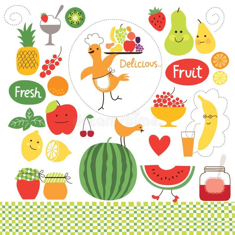 Het gezonde eten stock illustratie