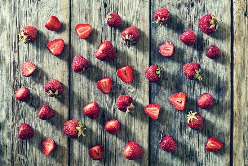 Het gezonde eten, aardbei, plak, bes, het op dieet zijn en vegetarisch concept Ontbijt, stock afbeeldingen