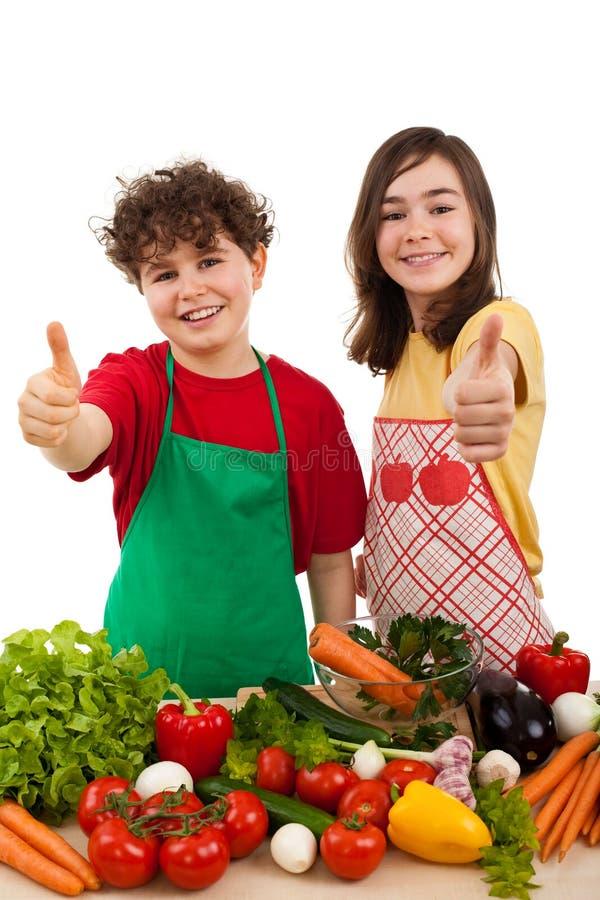 Het gezonde eten is O.K. stock foto's