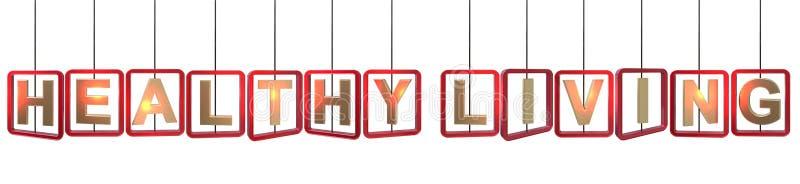 Het gezonde het leven brieven hangen stock illustratie