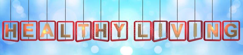 Het gezonde het leven brieven hangen vector illustratie