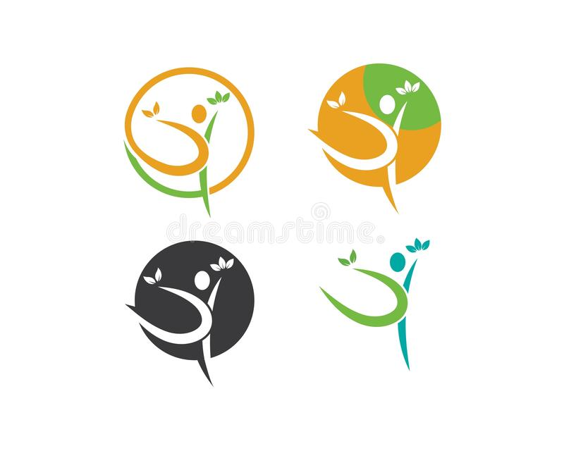 Het gezonde Leven, de medische vector van het Embleemmalplaatje stock illustratie