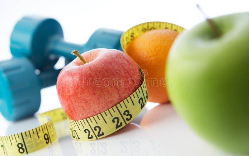Het gezonde leven en eten stock afbeelding