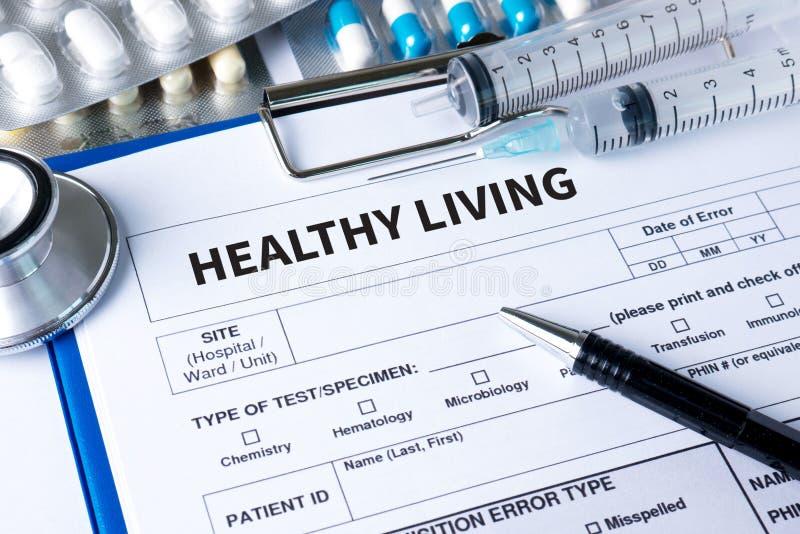 Het GEZONDE LEVEN investeert in uw plan van de gezondheidsstrategie stock fotografie