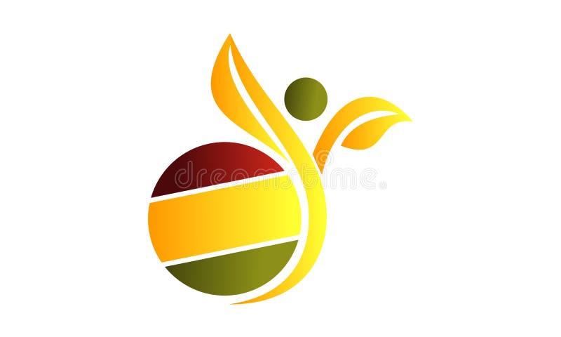 Het gezonde Leven Logo Design Template royalty-vrije illustratie