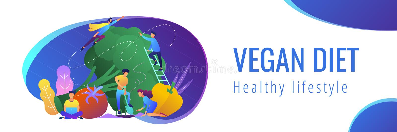 Het gezonde malplaatje van de levensstijlbanner vector illustratie
