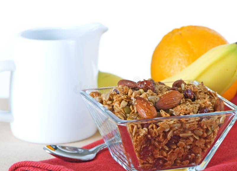 Het gezonde Organische Ontbijt van Granola en van het Fruit royalty-vrije stock foto's