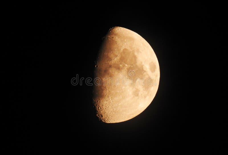 Het Gibbous de Fase van de maanfoto In de was zetten royalty-vrije stock fotografie