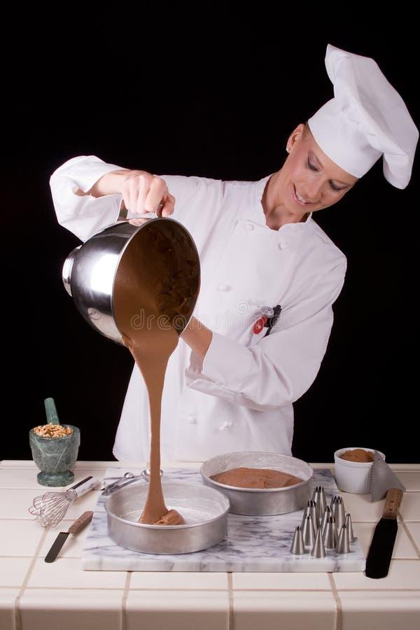 Het gietende Beslag van de Cake stock foto