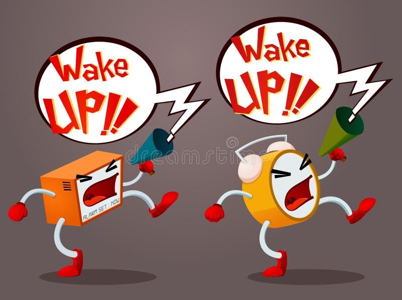 Het gillen Alarm royalty-vrije illustratie