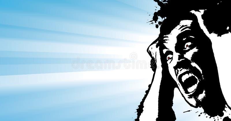 Het gillen grunge banner stock illustratie