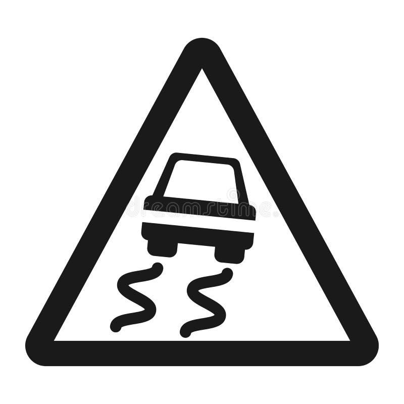 Het gladde pictogram van de verkeerstekenlijn vector illustratie