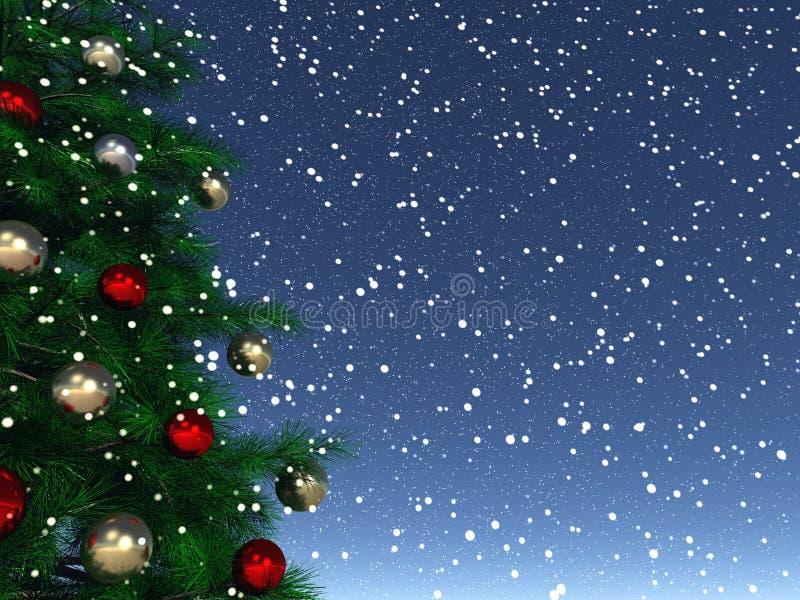 Het glanzen Kerstmis royalty-vrije illustratie