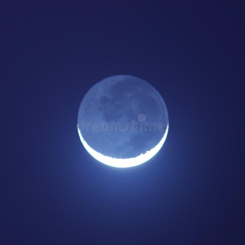Het glanzen van de maan stock afbeeldingen