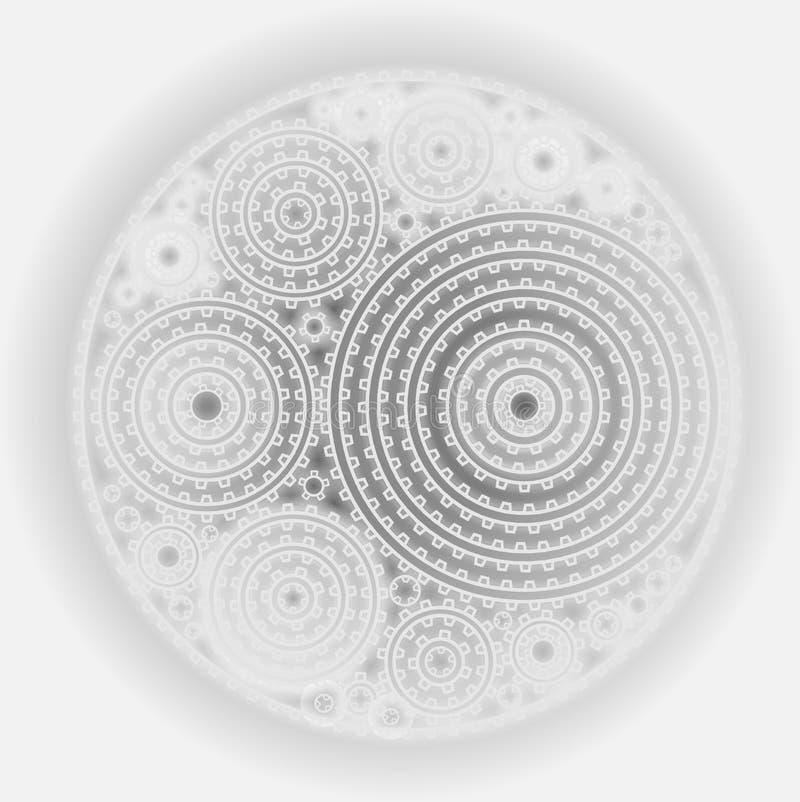 Het glanzende ornament van toestellen abstracte steampunk vector illustratie