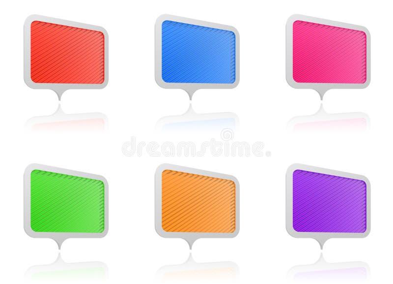 Het glanzende scherm vector illustratie
