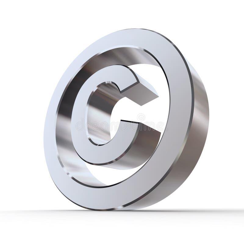 Het glanzende Symbool van het Auteursrecht stock illustratie