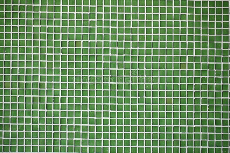 Het glas betegelt groen mozaïek stock afbeelding
