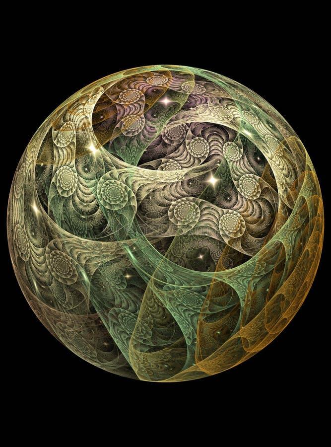 Het glas chrystal bal van de textuur royalty-vrije illustratie