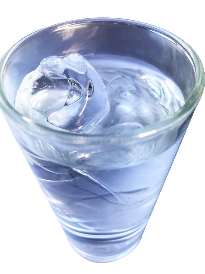 Het glas koele drank van het waterijs royalty-vrije stock foto