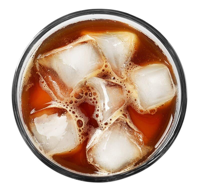 Het glas met koude brouwt koffie stock afbeelding