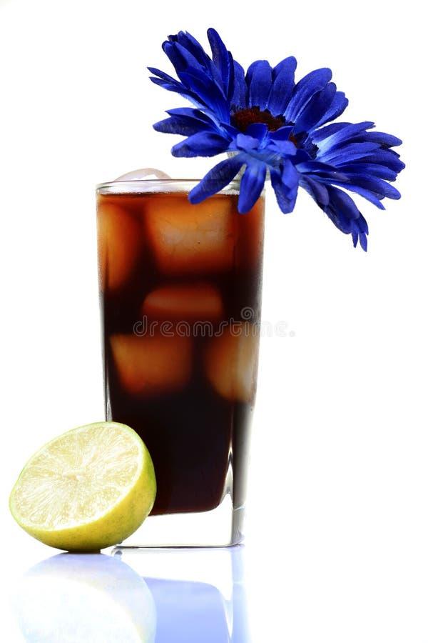 Het glas van de cokes stock afbeelding
