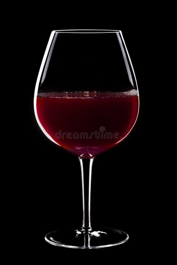 Het Glas van de rode Wijn stock foto