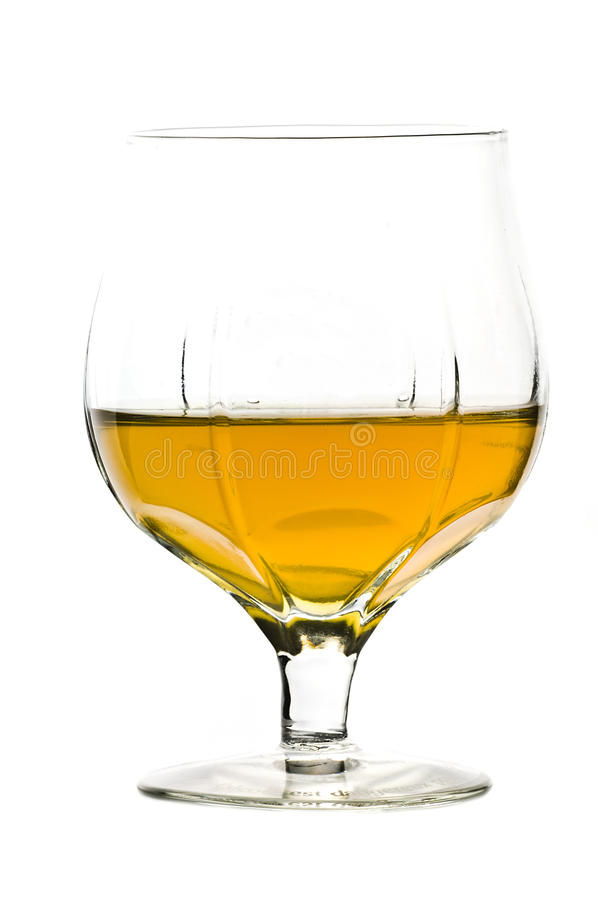 Het glas van de whisky stock afbeelding