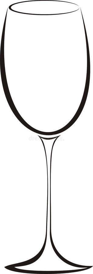 Het glas van de wijn stock illustratie