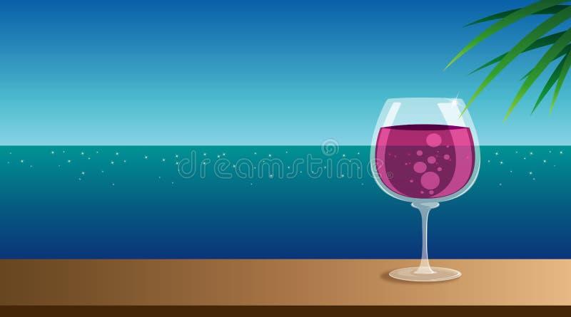 Het glas van de wijn