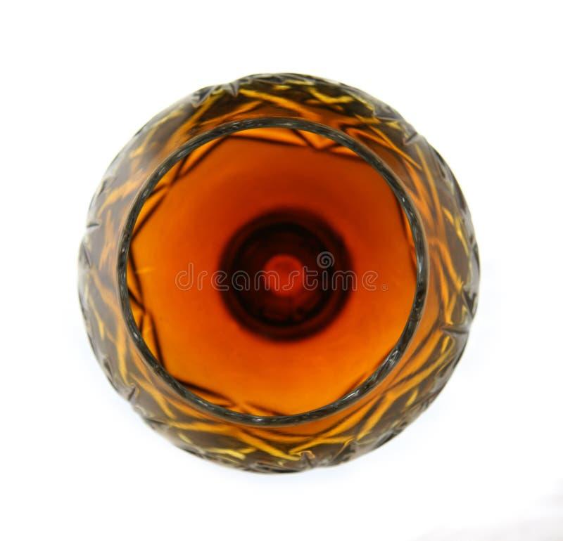 Het glas van de wijn - brandbal royalty-vrije stock foto's