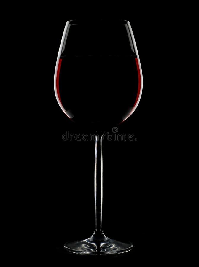 Het glas van de wijn silhoutte royalty-vrije stock foto