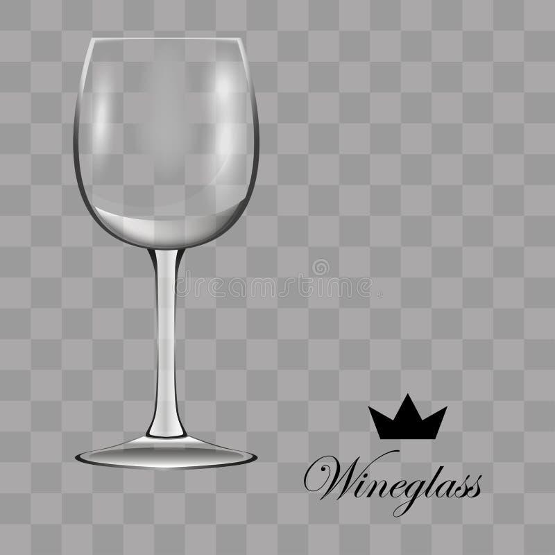 Het glas van de wijn Transparante vector vector illustratie